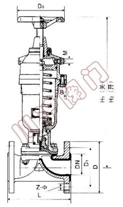 g6k41j常开式气动隔膜阀结构图