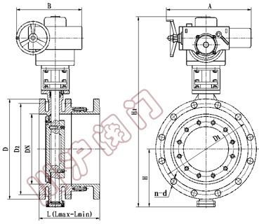 sd943h电动伸缩蝶阀 结构图图片