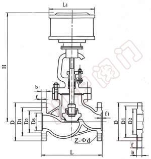 j641h气动截止阀,结构图