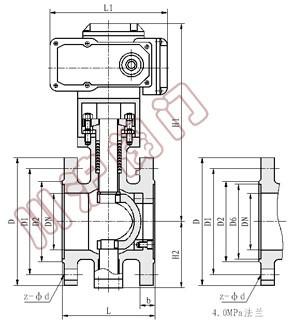 vq947电动v型调节球阀|电动v型切断球阀结构图