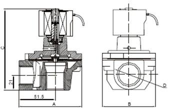 直角式脉冲电磁阀图片