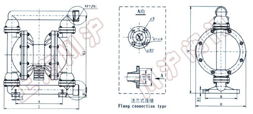 qby气动隔膜泵 结构简图图片