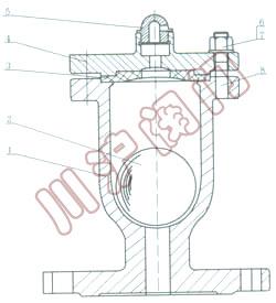 qb1单口自动排气阀 结构图图片