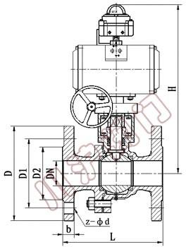 zjjq气动调节球阀 ,结构图图片