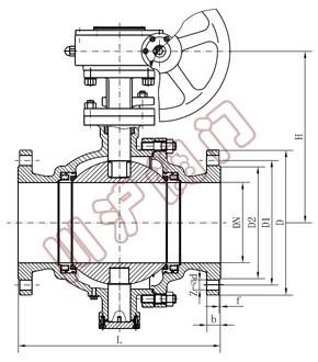 q347固定式球阀|固定式法兰球阀图片